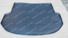 Коврик в багажник Hyundai Santa Fe (короткая база) (2012-2018) (5 мест) (Avto-Gumm полимер-пластик)