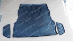 Коврик в багажник Mercedes W222 SD (2013->) (с регулировкой сидений) (Avto-Gumm полимер-пластик)