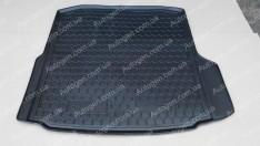 Коврик в багажник Skoda Octavia A7 LB (лифтбек) (2013->) (без бокса усилит.) (Avto-Gumm полимер-пластик)