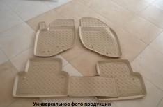 Коврики салона Hyundai Santa Fe 2 (2010-2012) (бежевые) (Nor-Plast)