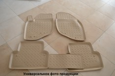 Коврики салона Volkswagen Amarok (2010->) (бежевые) (Nor-Plast)