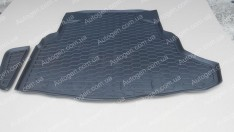 Коврик в багажник Mercedes W205 SD (с ухом)  (2015->) (Avto-Gumm полимер-пластик)