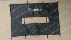 Утеплитель решетки радиатора и бампера Renault Kangoo 1 (1998-2008) (большой) мягкий черный