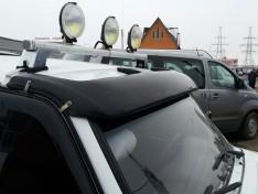 Козырек лобового стекла ВАЗ Нива 2121, 21213 тайга (стекловолокно) Ort-EU