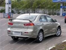 Спойлер багажника Mitsubishi Lancer 10 (2007->) (Design Zavod) (стекловолокно)