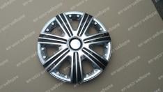 Колпаки на колеса DTM Super Silver R14 3D carbon (STR)