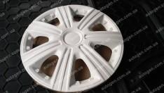 Колпаки на колеса DTM White R15 3D carbon (STR)