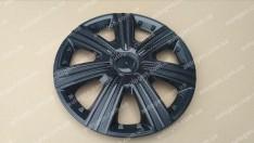 Колпаки на колеса DTM Black R15 3D carbon (STR)