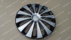 Колпаки на колеса GMK Super Black R14 3D carbon (STR)