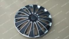 Колпаки на колеса GMK Super Silver R13 3D carbon (STR)