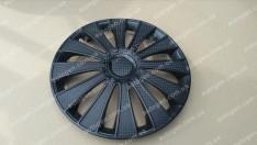 Колпаки на колеса GMK Black R13 3D carbon (STR)