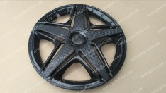 Колпаки на колеса NHL Black R14 3D carbon (STR)