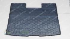 Коврик в багажник Volkswagen T6 Caravelle (2015->) (короткий с печкой) (Avto-Gumm полимер-пластик)