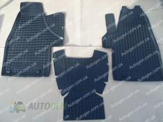 Коврики салона Volkswagen T6 Multivan / Caravelle (2015->) (3шт) (Avto-Gumm)