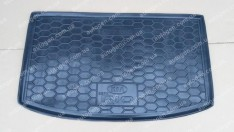 Коврик в багажник Kia Rio HB (хетчбэк) (EUR сборка) (2017->) (верхняя полка) (Avto-Gumm полимер-пластик)