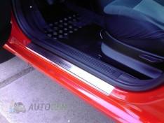 Накладки на пороги Peugeot 1007 (3 двери) (2005-2009) NataNiko