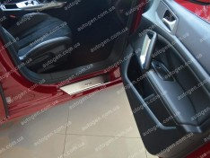 Накладки на пороги Peugeot 308 (5 дверей) (2013->) NataNiko