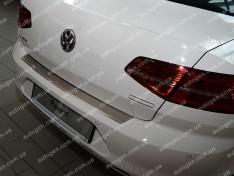 Накладка на бампер Volkswagen Passat B8 SD (2015->) NataNiko с загибом