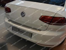 Накладка на бампер Volkswagen Passat B8 Variant (2015->) NataNiko с загибом