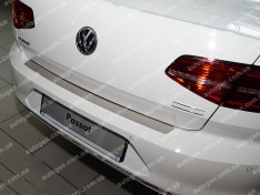 Накладка на бампер Volkswagen Passat B8 SD (2015->) NataNiko ровная