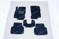 Коврики салона Ford Connect 2 (Tourneo) (Transit) (2013->) на все базы (5шт) (Avto-Gumm 3D ворс)