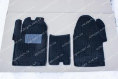Коврики салона ГАЗ Газель Next (ручка КП - сверху на панели) (3шт) (Avto-Gumm 3D ворс)