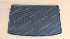 Коврик в багажник Volkswagen Polo HB (хетчбэк) (2018->) (Avto-Gumm полимер-пластик)