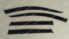 Ветровики Subaru Legacy 5 SD (2009-2014) (с хром молдингом) CT