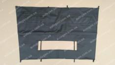 Утеплитель решетки радиатора и бампера Citroen Jumper (2006-2014) (большой) мягкий черный