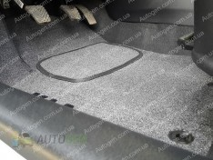 Коврики салона Toyota Sequoia (3й ряд) (2008->) (текстильные Серые) Vorsan