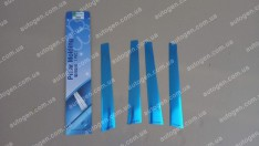 Auto clover Хром Накладки на наружные стойки ЗАЗ Vida SD (2012->) KR Хром