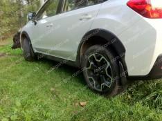 Брызговики модельные Subaru XV (2011-2017) (задние 2шт.) (Lada-Locker)