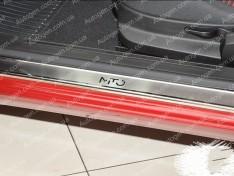 Накладки на пороги Alfa Romeo Mito (2008->) NataNiko