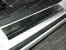 Накладки на пороги Chevrolet Cruze 2 SD (2008-2015) NataNiko