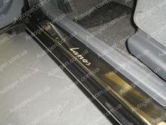 Накладки на пороги Daewoo Lanos HB (5 дверей) (1997->) NataNiko