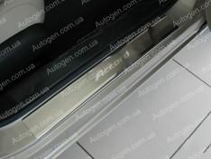 Накладки на пороги Honda Accord 9 (2013->) NataNiko