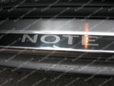 Накладки на пороги Nissan Note 1 (2005-2013) NataNiko