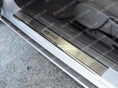 Накладки на пороги Opel Astra J GTC (3 двери) (2011-2015) NataNiko