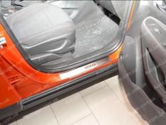 Накладки на пороги Opel Mokka (2012->) NataNiko