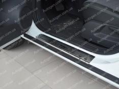 Накладки на пороги Opel Corsa D (2006-2014) NataNiko