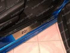 Накладки на пороги Peugeot 207 (2006-2012) NataNiko