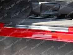 Накладки на пороги Volkswagen Scirocco 3 (2008->) NataNiko