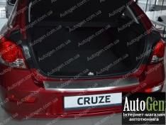Накладка на бампер Chevrolet Cruze 2 HB (2011-2015) NataNiko с загибом