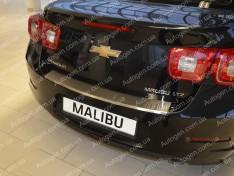 Накладка на бампер Chevrolet Malibu 8 (2011-2015) NataNiko с загибом