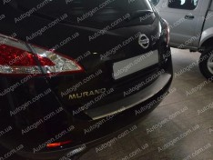 Накладка на бампер Nissan Murano 2 (Z51) (2008-2014) NataNiko с загибом