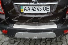 Накладка на бампер Opel Mokka (2012->) NataNiko с загибом