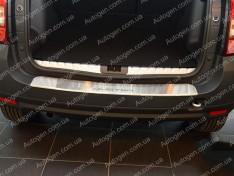 Накладка на бампер Renault Duster, Dacia Duster (2010-2018) NataNiko с загибом
