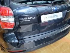 Накладка на бампер Subaru Forester 4 (2013-2018) NataNiko с загибом