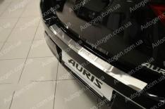 Накладка на бампер Toyota Auris 2 (2012-2019) NataNiko с загибом (без логотипа)