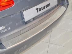 Накладка на бампер Volkswagen Touran 1 (2010-2015) NataNiko с загибом